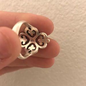 James Avery adorned hearts ring